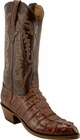 Mens Lucchese Classics Cigar Caiman Crocodile Tail Custom Hand-Made Cowboy Boots L1324