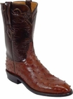 Mens Lucchese Classics Cigar Quill Ostrich Custom Hand-Made Roper Boots L3087