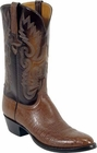 Mens Lucchese Classics Cigar Smooth Ostrich Custom Hand-Made Cowboy Boots L1202