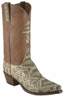 Mens Lucchese Classics Eastern Diamondback Rattlesnake Custom Hand-Made Cowboy Boots L1337