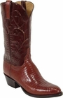 Mens Lucchese Classics Peanut Brittle Lizard Custom Hand-Made Cowboy Boots L1218