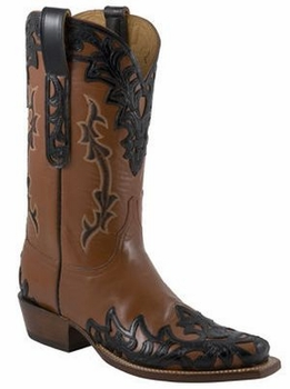 Mens Lucchese Classics Pearwood Goat Custom Hand-Made Leather Boots L1672