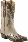 Mens Lucchese Classics Sable Goat with Cheyenne Design Hand-Tooled Design Custom Hand-Made Leather Boots L1674