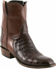 Mens Lucchese Classics Sienna Ultra Belly Crocodile Custom Hand-Made San Antonio Dress Collection Pony Boots F5058