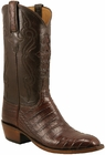 Mens Lucchese Classics Sienna Ultra Crocodile Belly Custom Hand-Made Cowboy Boots L1409