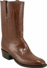 Mens Lucchese Classics Sport Rust Alligator Belly Custom Hand-Made Cowboy Boots L1068