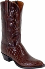 Mens Lucchese Classics Sport Rust Alligator Belly Custom Hand-Made Cowboy Boots L1080