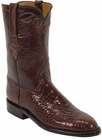 Mens Lucchese Classics Sport Rust Belly American Alligator Custom Hand-Made Roper Boots L3022