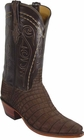 Mens Lucchese Classics Sueded Chocolate Nile Crocodile Belly Custom Hand-Made Cowboy Boots L1318