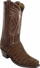 Mens Lucchese Classics Sueded Cognac Nile Crocodile Belly Custom Hand-Made Cowboy Boots L1319