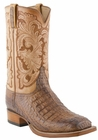 Mens Lucchese Classics Tan Burnished Hornback Caiman Body Cut Hand-Made Cowboy Boots L1417