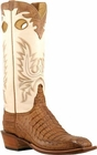 Mens Lucchese Classics Tan Burnished Hornback Caiman Crocodile Custom Hand-Made Cowboy Boots L8050