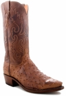 """Men's Lucchese """"Chisum"""" Barnwood Full Quill Ostrich Leather Boots N1062"""