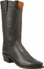 "Mens Lucchese ""Bart"" Black Burnished Ranch Hand Cowboy Boots N1597"