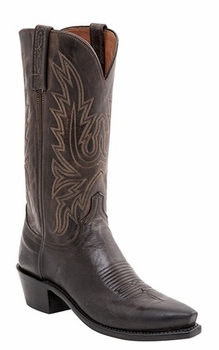 "Mens Lucchese ""Cole"" Chocolate Burnished Goat Leather Boots N1556"