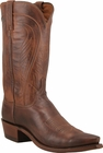"Mens Lucchese ""Bart"" Mens Tan Burnished Ranch Hand Cowboy Boots N1596"
