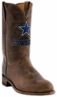 Mens Lucchese NFL Dallas Cowboys Tan Madras Goat Roper Boots M1016