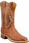 Mens Lucchese Since 1883 Barnwood Burnished Full Quill Ostrich Leather Boots C1104
