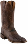 Mens Lucchese Since 1883 Barrel Brown Waxy Hornback Caiman C1064