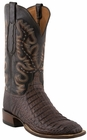 Mens Lucchese Since 1883 Barrel Brown Waxy Hornback Caiman C1067
