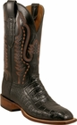 Mens Lucchese Since 1883 Black Ultra Crocodile Belly C1050