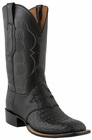 Mens Lucchese Since 1883 Black Waxy Hornback Caiman C1062