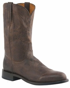 Mens Lucchese Since 1883 Chocolate Madras Goat Leather Roper Boots M1018