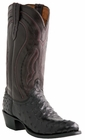 """Men's Lucchese """"Montana"""" Black & Cordovan Full Quill Ostrich Leather Boots M1608"""