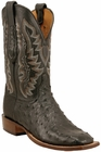 Mens Lucchese Since 1883 Mens Black Full Quill Ostrich Leather Boots C1102