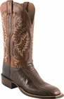 Mens Lucchese Since 1883 Mens Chocolate Matte Ostrich Leg Boots C1351
