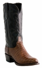 """Men's Lucchese """"Charles"""" Sienna & Dark Brown Belly Crocodile Leather Boots M1635"""