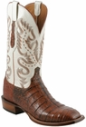 Mens Lucchese Since 1883 Rust Ultra Crocodile Belly Leather Boots C1005
