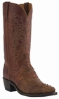 """Men's Lucchese """"Beauford"""" Tan Burnished Hornback Caiman Headcut Leather Boots M2536"""