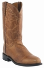 Mens Lucchese Since 1883 Tan Mad Dog Goat Leather Roper Boots M1017