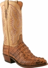 """Men's Lucchese """"Willis"""" Tan Burnished Horn Back Caiman Tail Boot N1108"""
