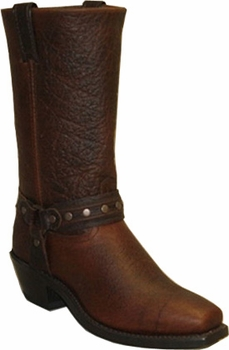 "<Font size=5 color=""red""><b>></b></Font>Mens Sage by Abilene Brown Studded Harness Boots #4712"