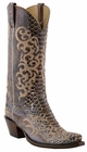 "12"" Ladies Lucchese Classics Rust Mallard Belly Python with Abigal Stitch Design L4160"