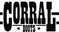 *NEW* Corral Women's Antique Saddle / Brown Overlay & Studs Boot - G1262