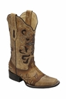 *NEW* Corral Women's Antique Saddle Metal Cross Boot - C1167
