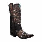 *NEW* Corral Women's Brown Fringed Layers & Studs Boot - C3008