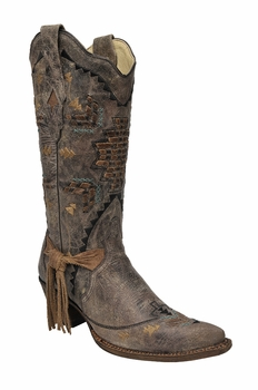 *NEW* Corral Women's Cango - Tobacco Laser Woven Boot - A2992