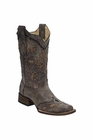 *NEW* Corral Women's Cango / Tobacco Laser Woven Boot - A3063