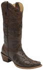 *NEW* Corral Women's Chocolate Vintage Lizard Inlay Boot - C2692