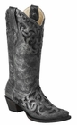 *NEW* Corral Women's Metallic Grey / Black Stingray Inlay Boot - A3124