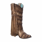 *NEW* Corral Women's Tan Fringed Layers & Studs Boot - A2988