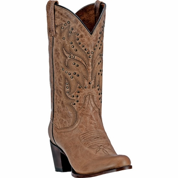 """*NEW* Dan Post Women's """"Melba"""" All Leather Gold Fashion Boots DP3515"""