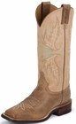 Justin Ladies Bent Rail Series Fogged Camel And Arizona Mocha Cowgirl Boots BRL338