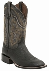 "*NEW* Lucchese Men's ""Burt"" Black Smooth Ostrich Horseman Boot M2672"