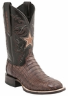 "*NEW* Lucchese Men's ""Dominic"" Sienna Ultra Belly Caiman Tail Horseman Boot M1045"