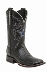 """*NEW* Lucchese Men's """"Easton"""" Black Ultra Belly Caiman Tail Dallas Cowboy Horseman Boot M1070"""